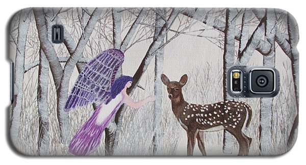 Galaxy S5 Case featuring the painting Winter Magic by Cheryl Bailey