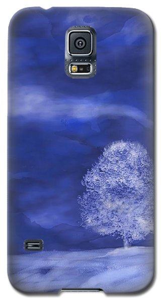Galaxy S5 Case featuring the digital art Winter Mist by Mary Armstrong
