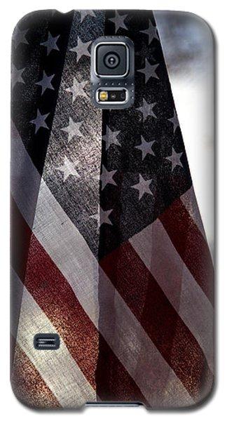 Winter Morning Patriotism Galaxy S5 Case