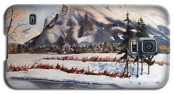 Galaxy S5 Case featuring the painting Winter Near Banff by Marta Styk