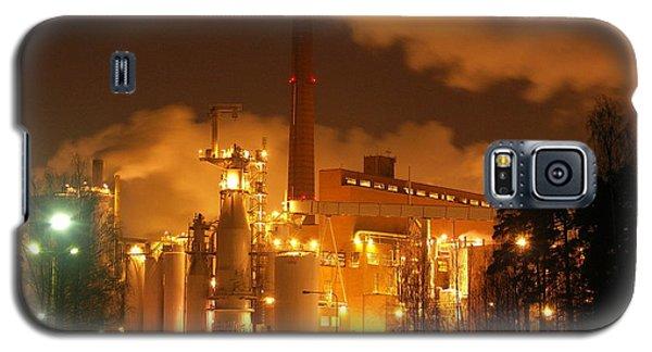 Winter Night At Sunila Pulp Mill Galaxy S5 Case