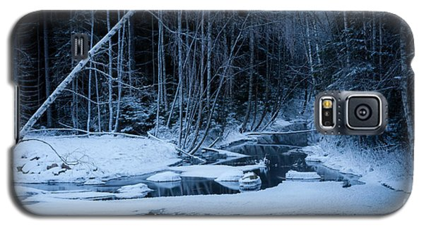 Winter Night At The River Galaxy S5 Case