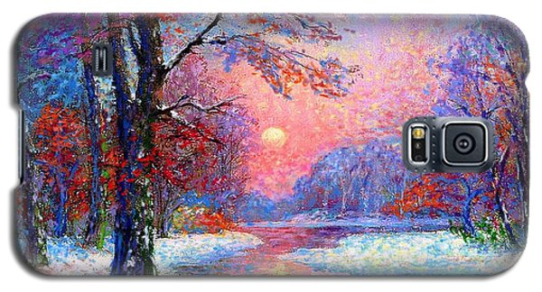 University Of Illinois Galaxy S5 Case - Winter Nightfall, Snow Scene  by Jane Small
