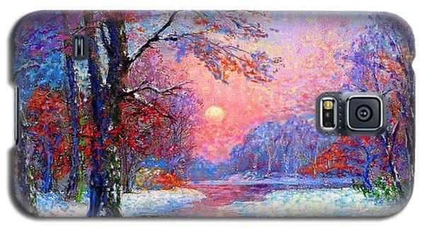 Icy Galaxy S5 Case - Winter Nightfall, Snow Scene  by Jane Small