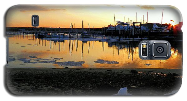 Galaxy S5 Case featuring the photograph Winter On Sesuit Harbor by Amazing Jules