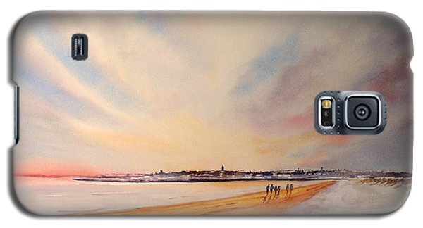 Galaxy S5 Case featuring the painting Winter On St Andrews Scotland by Beatrice Cloake