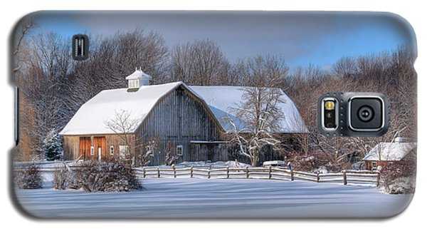 Galaxy S5 Case featuring the photograph Winter On The Farm 14586 by Guy Whiteley