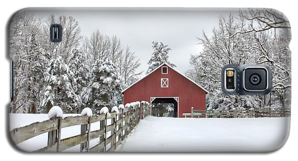 Winter On The Farm Galaxy S5 Case by Benanne Stiens