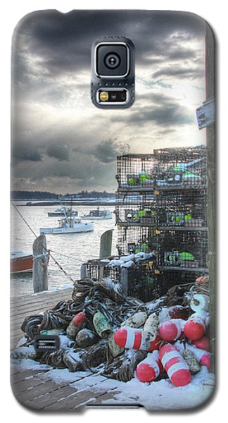 Winter On The Lobster Wharf Galaxy S5 Case