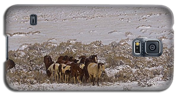 Galaxy S5 Case featuring the photograph Winter On The Mccullough Range  16x52 by J L Woody Wooden