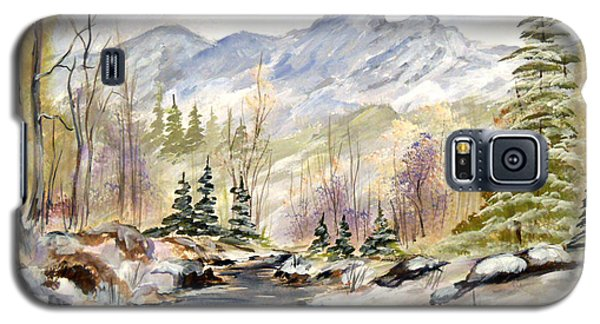 Galaxy S5 Case featuring the painting Winter On The River by Dorothy Maier