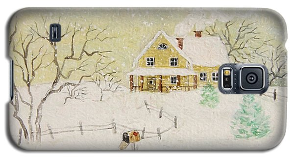 Winter Painting Of House With Mailbox/ Digitally Altered Galaxy S5 Case