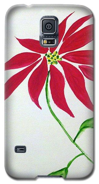 Winter Poinsettia Galaxy S5 Case