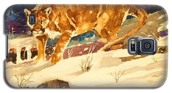 Galaxy S5 Case featuring the painting Winter Prowl by Al Brown