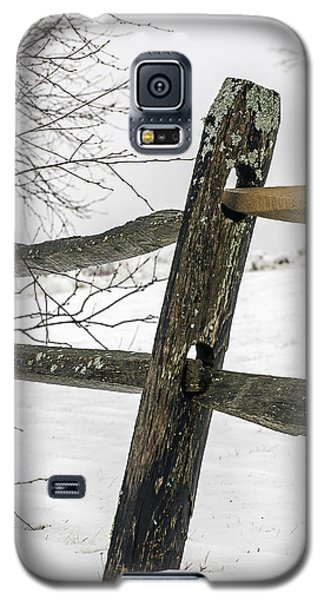 Winter Rail Fence Galaxy S5 Case