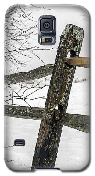 Winter Rail Fence Galaxy S5 Case
