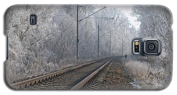 Winter Railroad Galaxy S5 Case