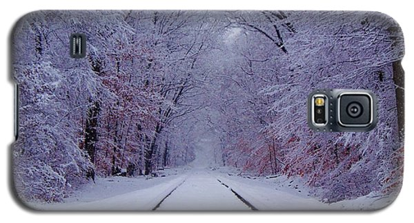 Train Galaxy S5 Case - Winter Rails by Greg Kear