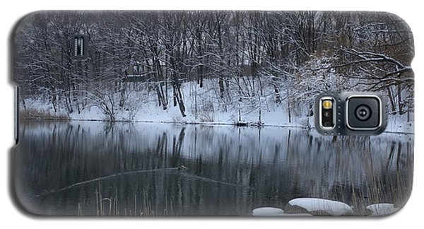 Galaxy S5 Case featuring the photograph Winter Reflections by Dora Sofia Caputo Photographic Art and Design
