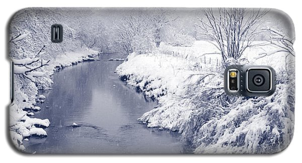 Galaxy S5 Case featuring the photograph Winter River by Liz Leyden