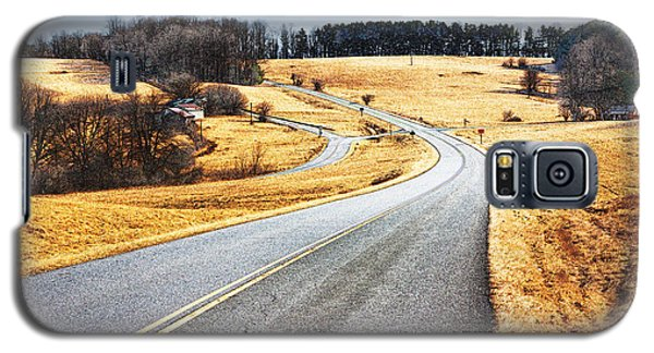 Winter Road - Blue Ridge Parkway II Galaxy S5 Case