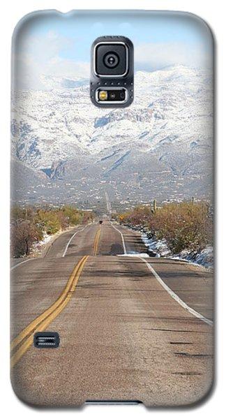 Winter Road Galaxy S5 Case by David S Reynolds