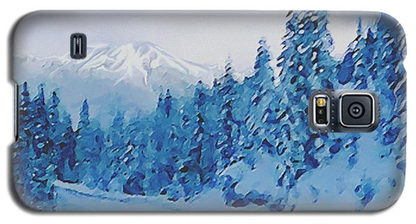 Galaxy S5 Case featuring the painting Winter Road by Sophia Schmierer