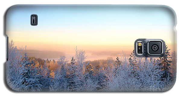Winter Scenery Of The Lake Hiidenvesi Galaxy S5 Case