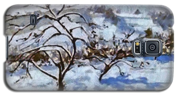 Galaxy S5 Case featuring the painting Winter Shadows by Elizabeth Coats