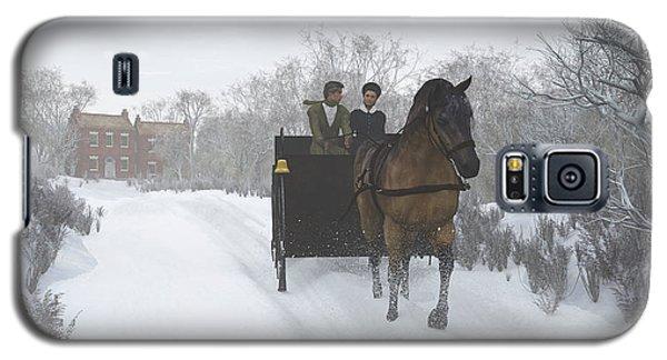 Winter Sleigh Ride Galaxy S5 Case