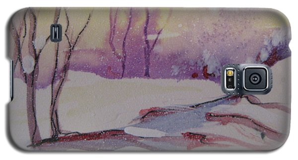 Galaxy S5 Case featuring the painting Winter Snow Scene by Gretchen Allen