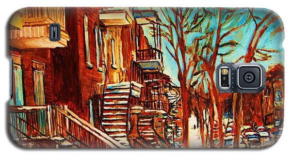 Galaxy S5 Case featuring the painting Winter Staircase by Carole Spandau