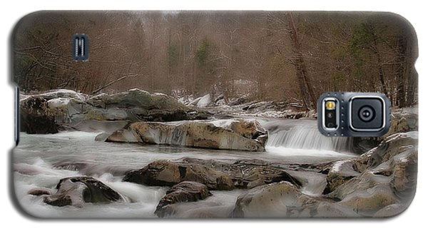 Galaxy S5 Case featuring the photograph Winter Stream by Geraldine DeBoer