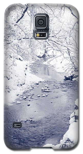 Galaxy S5 Case featuring the photograph Winter Stream by Liz Leyden