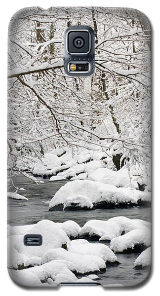 Galaxy S5 Case featuring the photograph Winter Stream by Timothy McIntyre