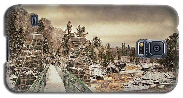 Winter Sunrise Over A Swinging Bridge Galaxy S5 Case