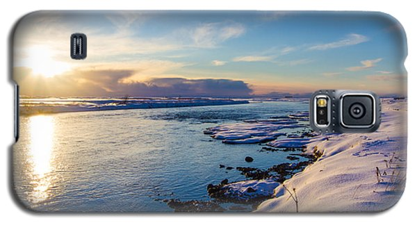 Galaxy S5 Case featuring the photograph Winter Sunset In Iceland by Peta Thames