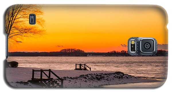 Winter Sunset Galaxy S5 Case by Serge Skiba