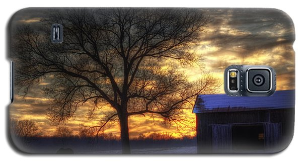 Galaxy S5 Case featuring the photograph Winter Sunset by Skip Tribby