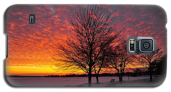 Galaxy S5 Case featuring the photograph Winter Sunset by Terri Gostola