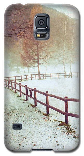Winter Tree With Fence Galaxy S5 Case