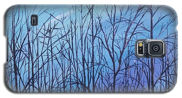 Winter Trees Against A Blue Sky Galaxy S5 Case