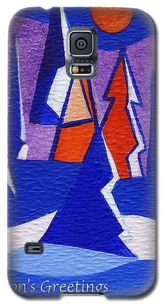 Galaxy S5 Case featuring the painting Winter Trees by Joyce Gebauer