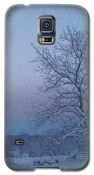 Winter Trees On West Michigan Farm At Sunrise Galaxy S5 Case