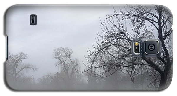 Galaxy S5 Case featuring the photograph Winter Trees With Mist by Jeannie Rhode