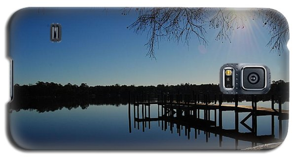 Winter Under The Bald Cypress Galaxy S5 Case by Michele Kaiser
