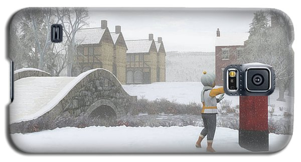 Winter Village With Postbox Galaxy S5 Case by Jayne Wilson