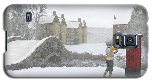 Winter Village With Postbox Galaxy S5 Case