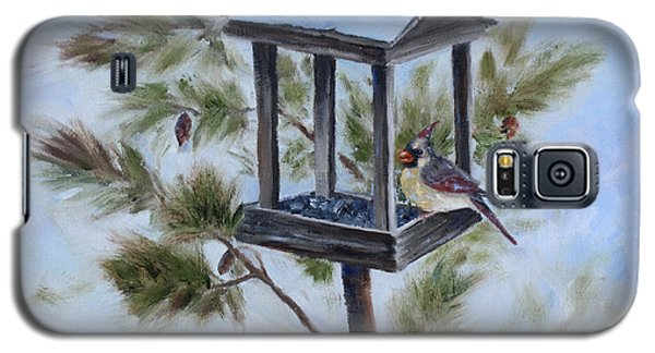 Galaxy S5 Case featuring the painting Winter Visitor by Brenda Thour