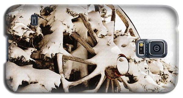 Winter Wagon Wheel Galaxy S5 Case